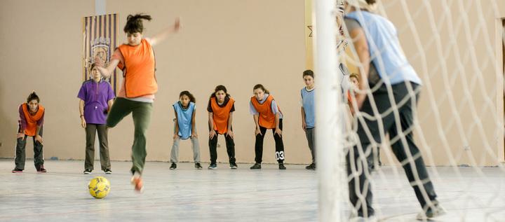 Muna's underground soccer club.