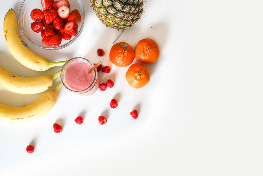 fruit smoothie to get toned