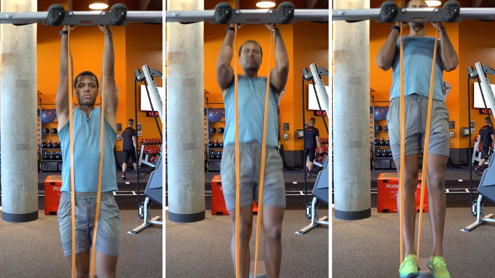 how to do a pull up band assisted