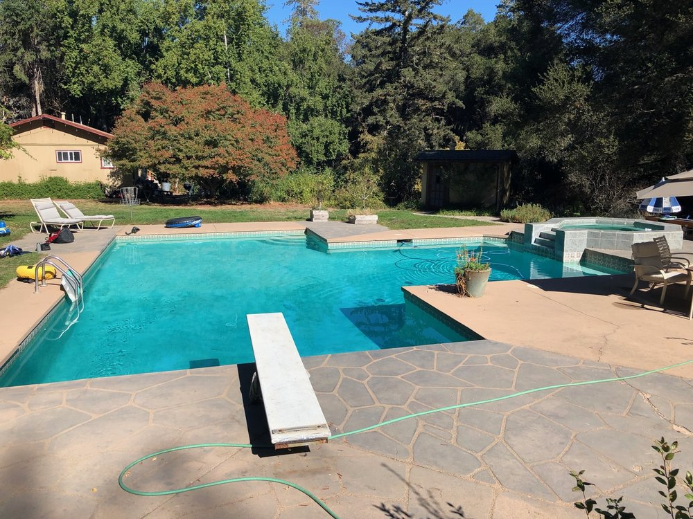 Our pool in Felton, CA