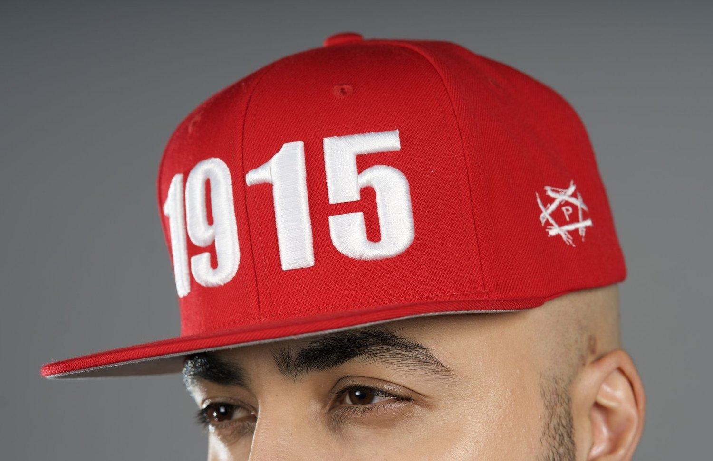 110809a8632edd The Pentagon LA Shop Open Wounds 1915 - Red w/ White Snapback