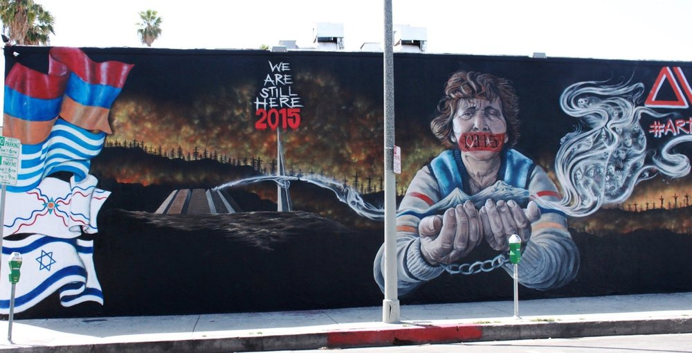 Armenian Genocide Anniversary Sparks Fiery Art in Los Angeles.