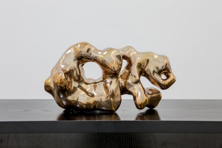 Flame from the Dragons Pearl Teaching without Saying a Thing 2013 bronze 21 x 39 x 29 cm edition of 3