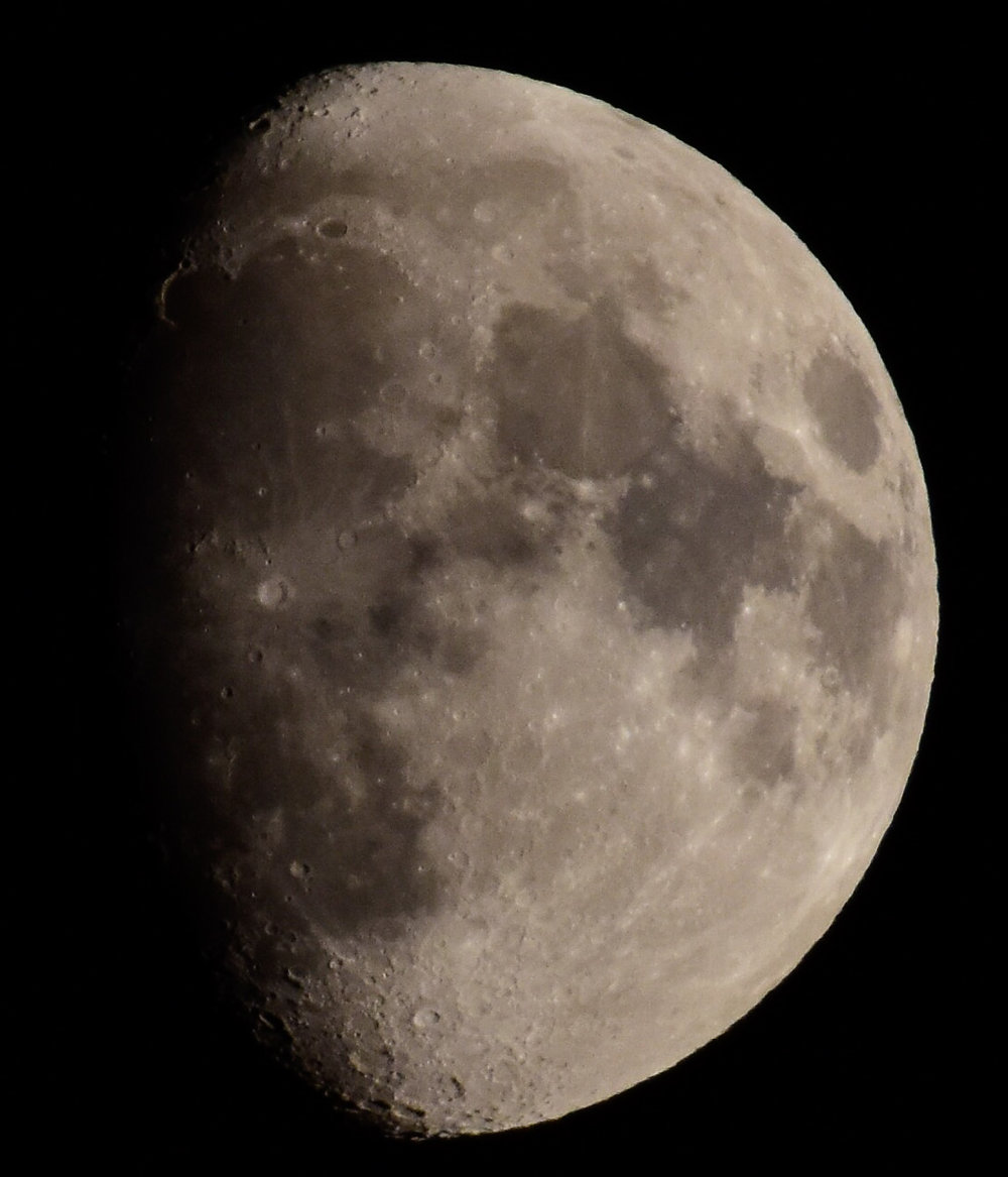 The First Quarter (Waxing Gibbous) Moon