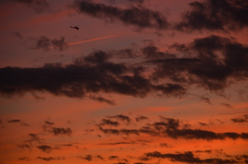 Helicopter at Sunrise