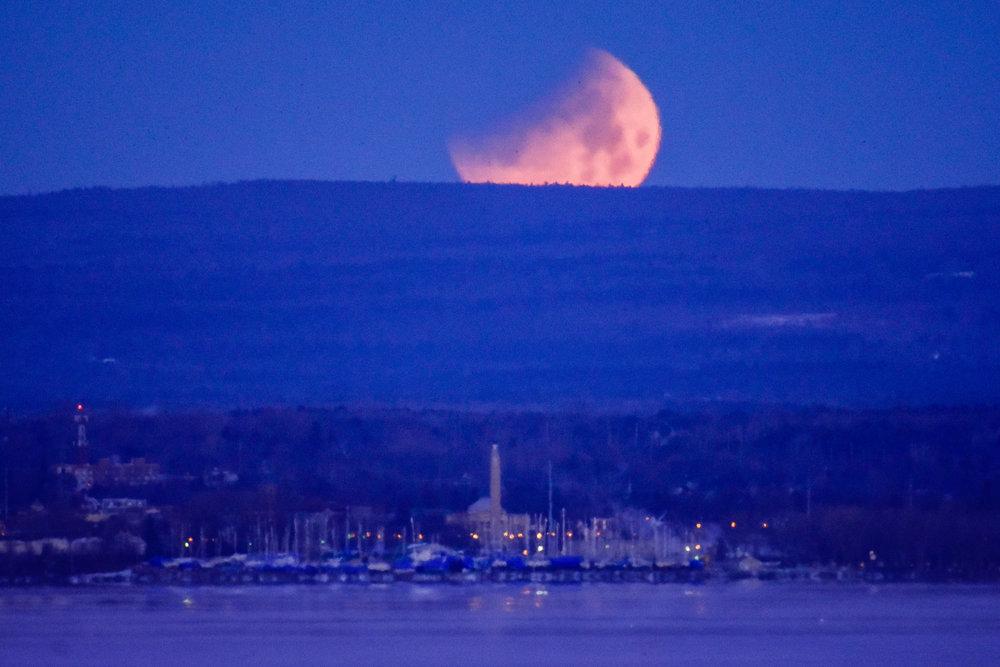 Super Blue Blood Moon over Plattsburgh, NY