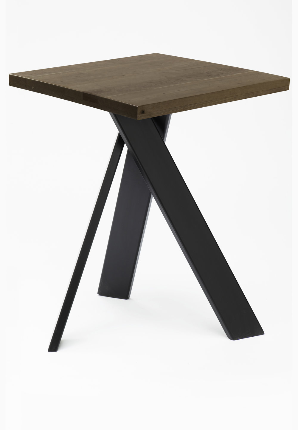 "24"" x 24"" x 30"" Dining/Restaurant Table<br>Solid Cherry with Black Powder Coated Base"