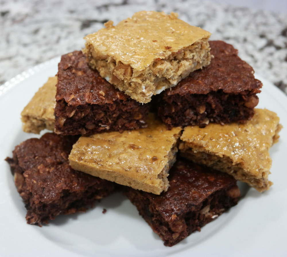Baked Protein Bars - $20 - (9/box)Nutrition per serving (1 bar)Calories 141Fat 4gSaturated fat 2gCarbs 36gFiber 3gSugar 12gProtein 36gAvailable in the following flavors:ChocolateVanilla
