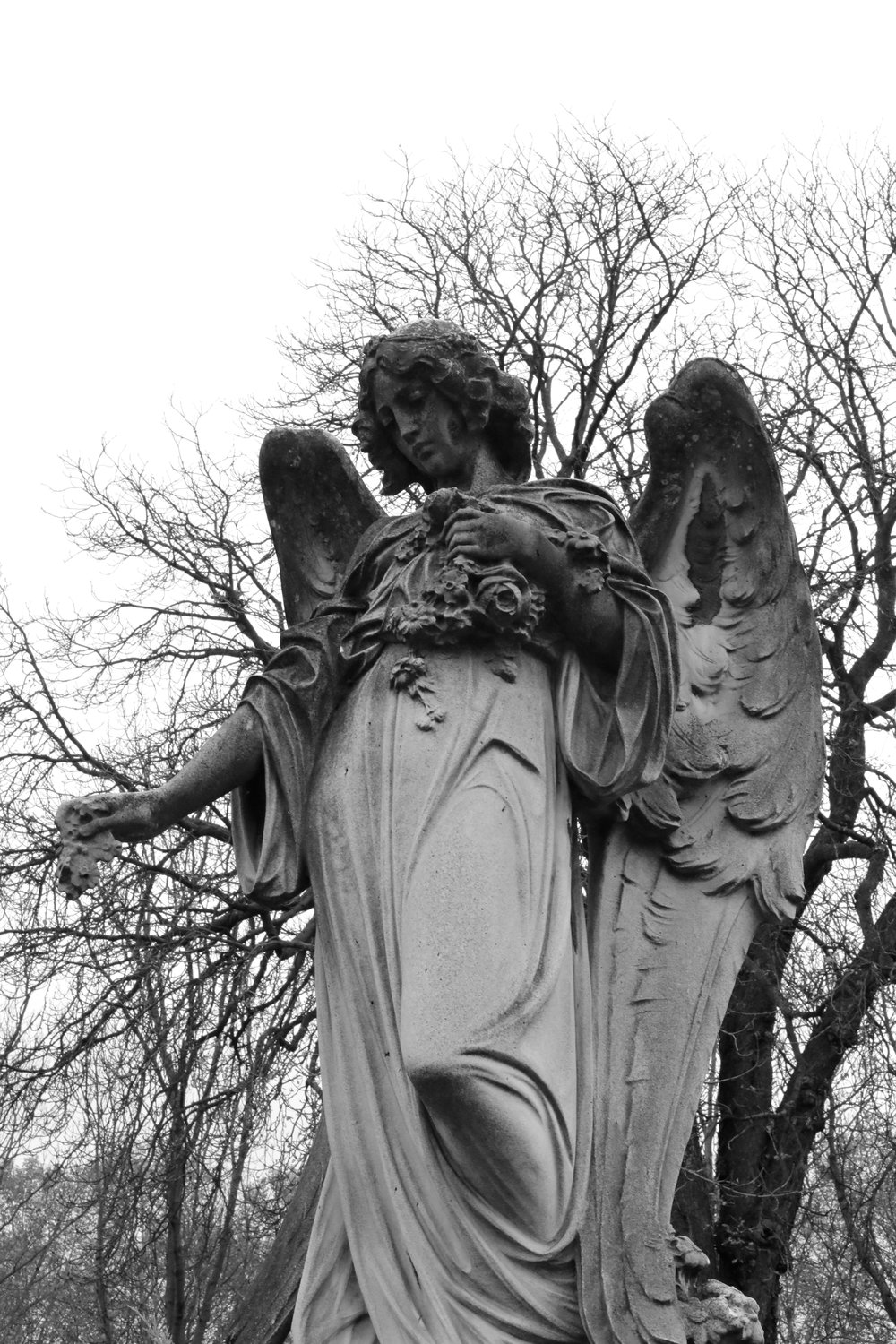 Angel statue on grave, Paris France   https://www.ebay.com/itm/263679741934?ssPageName=STRK:MESELX:IT&_trksid=p3984.m1555.l2649