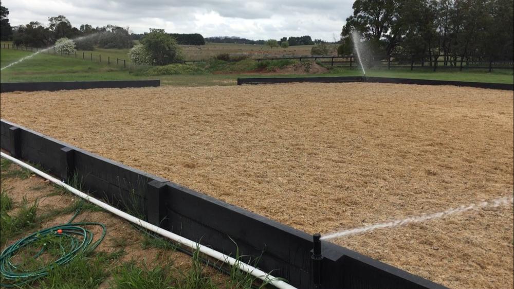 Arena walls & Irrigation