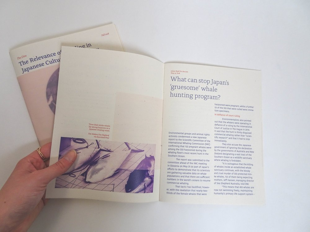 - Timeline: 8 weeksDeliverable: Printed publication that explores and environmental issueMy Roles: Typographer, Layout DesignerTools: Adobe inDesign, Adobe Photoshop