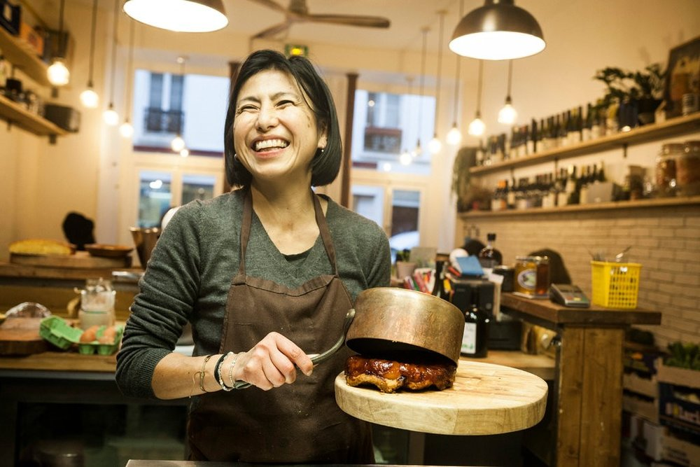 MOKONUTS - At Mokonuts in Paris, a Dinner Reservation Is Impossible to Get.The couple behind the ambitious, perpetually packed restaurant close early to feed a more private audience: their daughters.Photo and article from THE NEW YORK TIMES