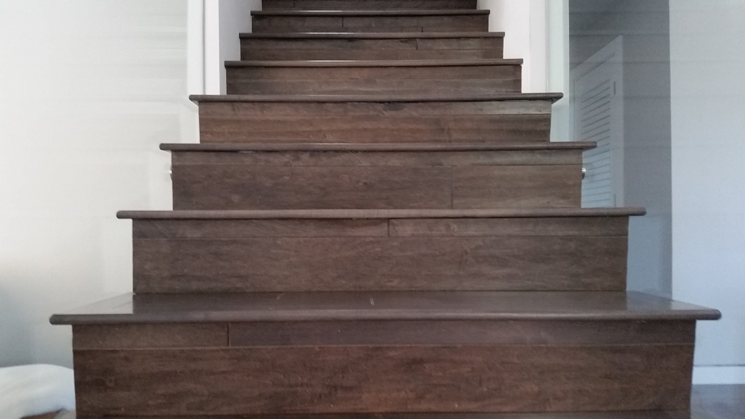 installing baseboard molding on stairs