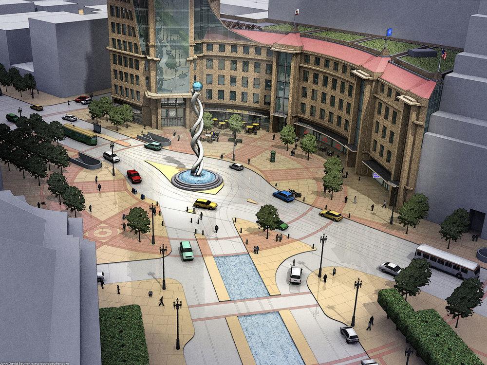 Market Street circle