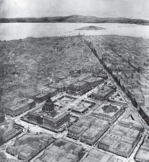 Original Civic Center in perspective