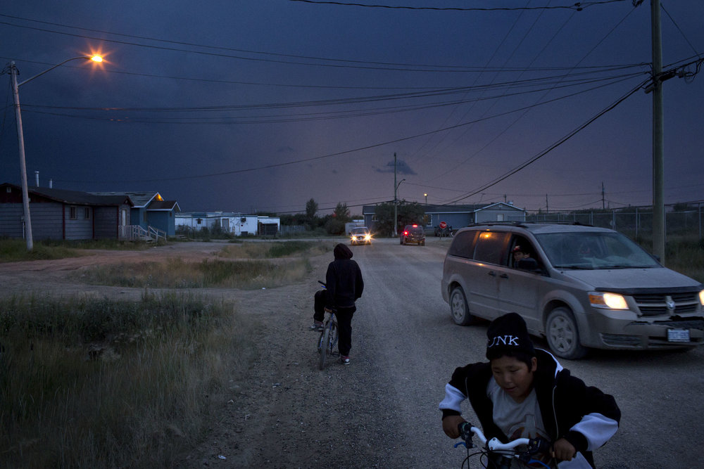 'People of the Parting Rocks' for The Pulitzer Centre on Crisis Reporting . Dusk in Attawapiskat, Ontario.