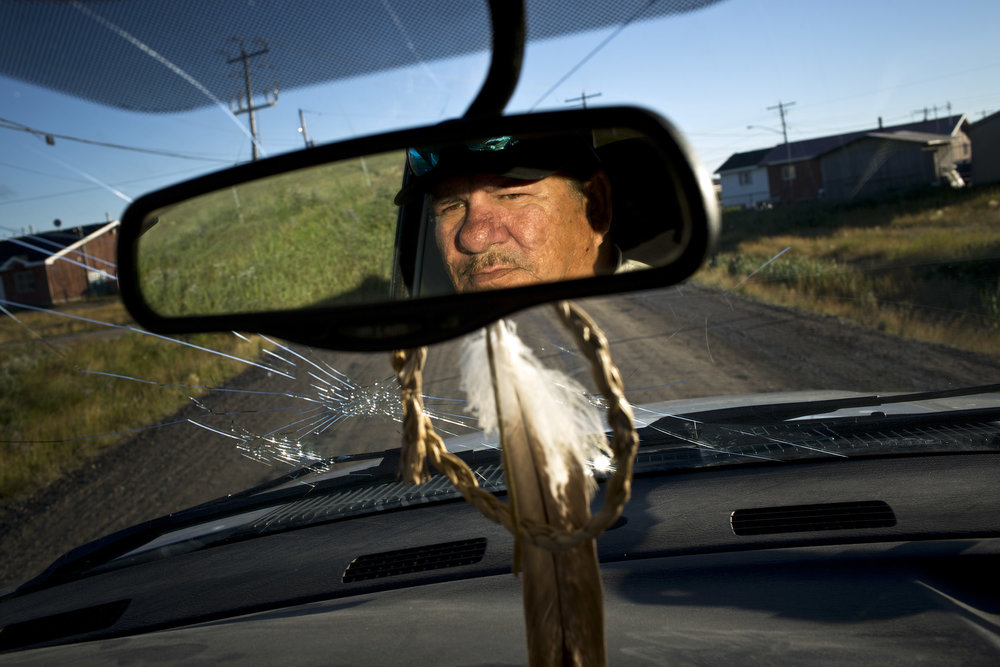 'People of the Parting Rocks' for The Pulitzer Centre on Crisis Reporting . Jack Linklater drivs a local taxi service in Attawapiskat, Ontario.