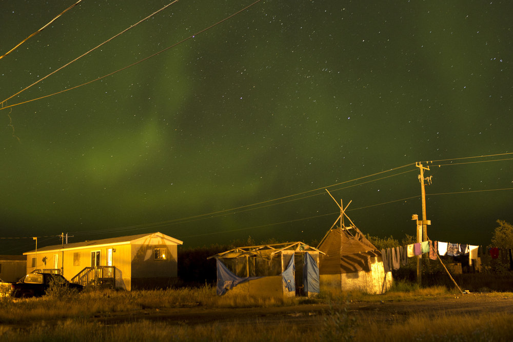 'People of the Parting Rocks' for The Pulitzer Centre on Crisis Reporting . The Attawapiskat First Nations Community under the Northern Lights.