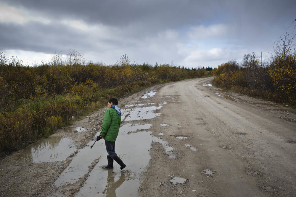 'People of the Parting Rocks' for The Pulitzer Centre on Crisis Reporting . A boy learns to shoot in anticipation of the spring goose hunt in Attawapiskat, Ontario.