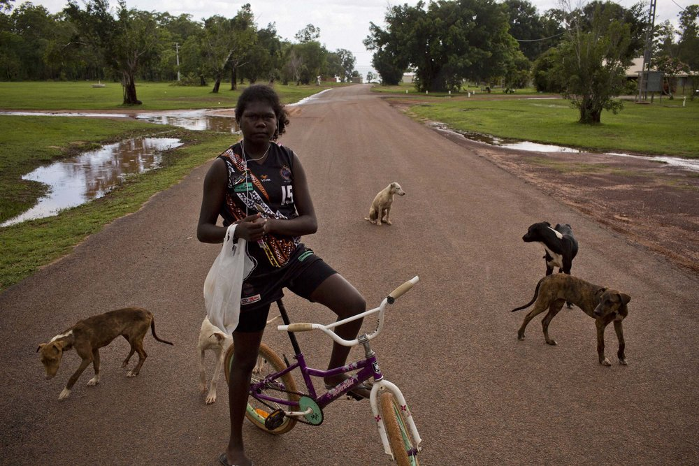 Pirlangimpi, a community on Melville Island, Northern Territory.
