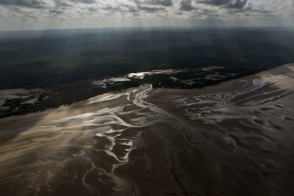 An aerial view of the shoreline of Melville Island, Northern territory.