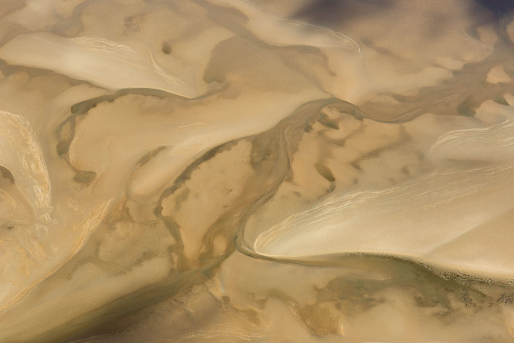 An aerial view of sand banks on the shoreline of Melville Island, Northern Territory.