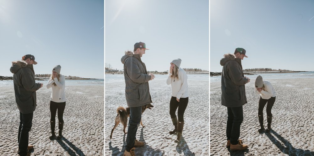 Goose Rocks Beach Kennebunkport Maine Engagement Proposal 1 © Heidi Kirn Photography.jpg
