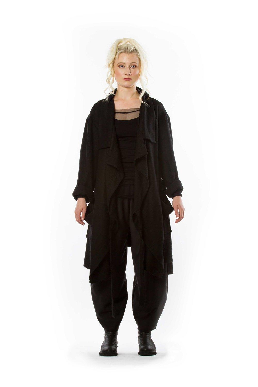 Sagi Mid Coat + Mesh Shirt + Harmonie Pant
