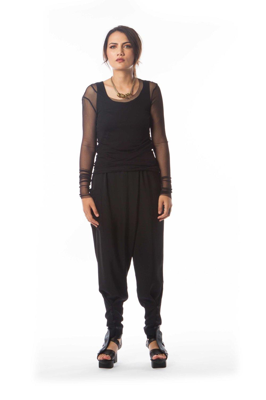 Mesh Shirt + Essential Singlet + Origami Pant
