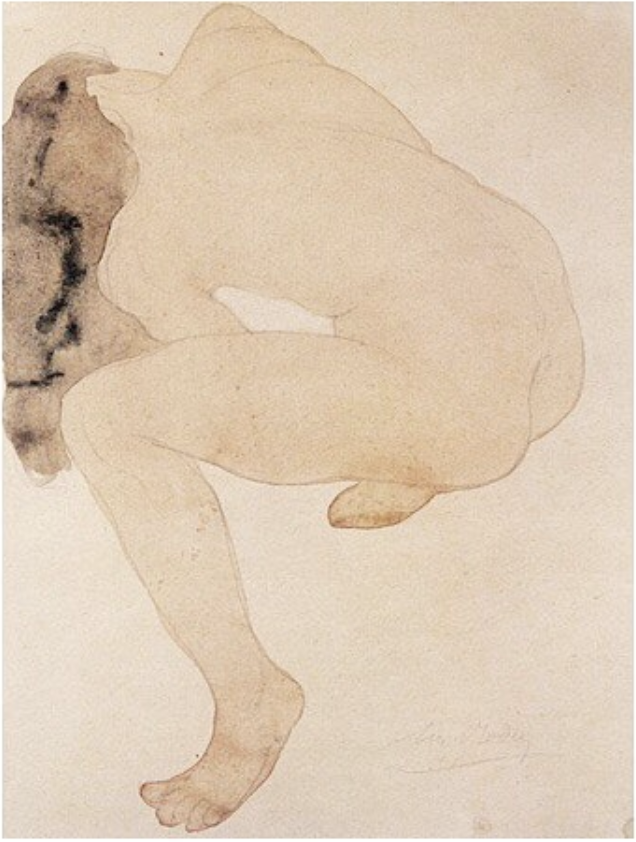 Watercolour by Auguste Rodin