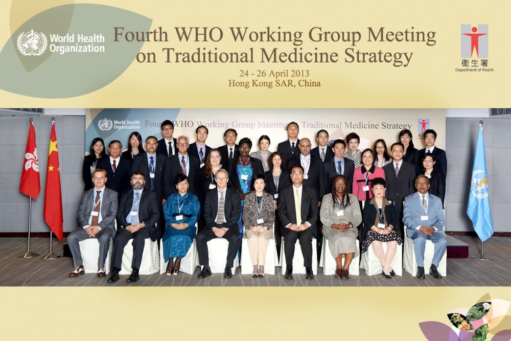 April 2013 - 4th WHO Working Group Meeting on Traditional Medicine Strategy in Hong Kong, China