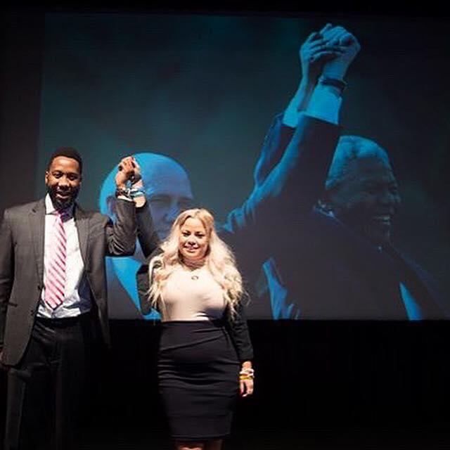 Natalie Riley with Ndaba Mandela