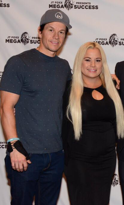 Natalie Riley with Mark Wahlberg