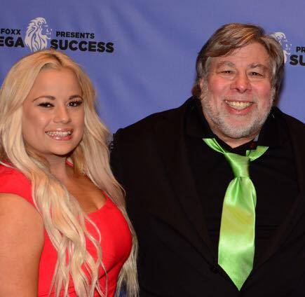 Natalie Riley with Apple Co founder Steve Wozniak