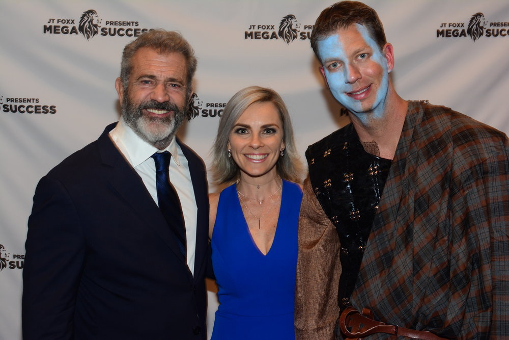 Daniella Princi with Mel Gibson and JT Foxx