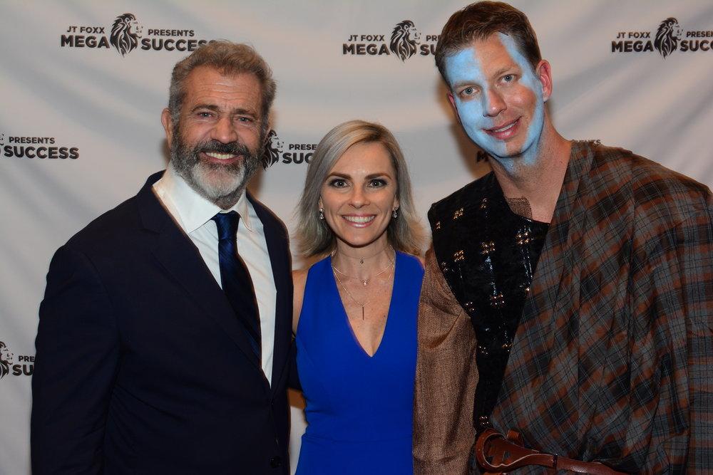 Daniella Princi with Mel Gibson and JT Foxx