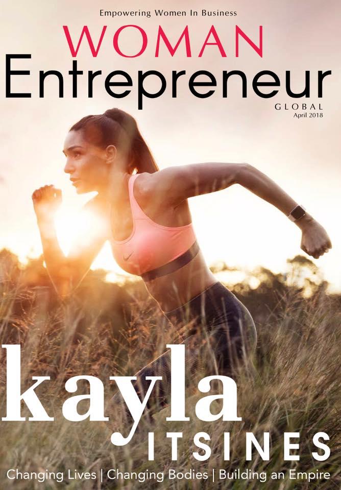 Kayla Itsines on Woman Entrepreneur Magazine cover.jpg