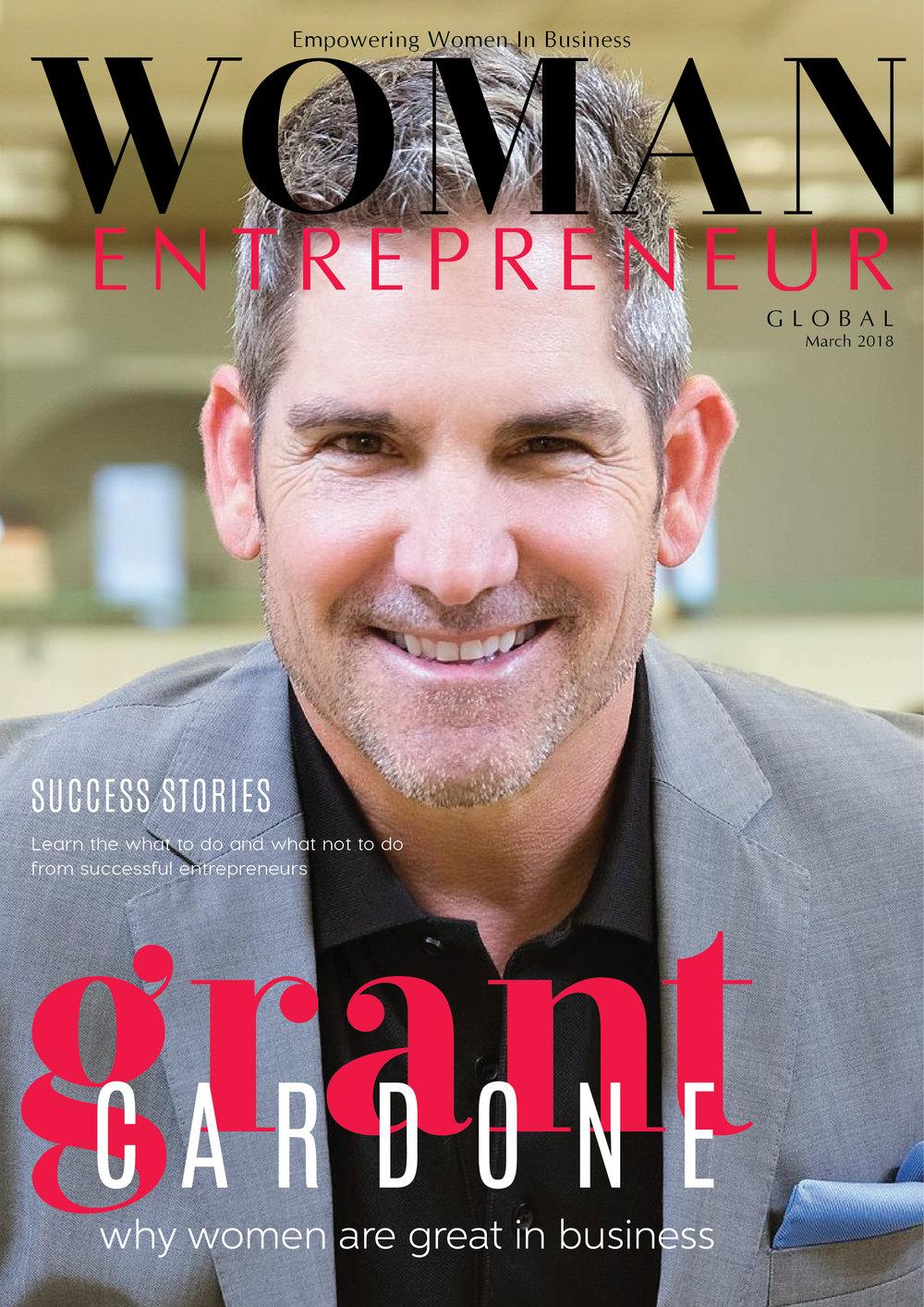 Grant Cardone - Woman Entrepreneur Magazine Cover