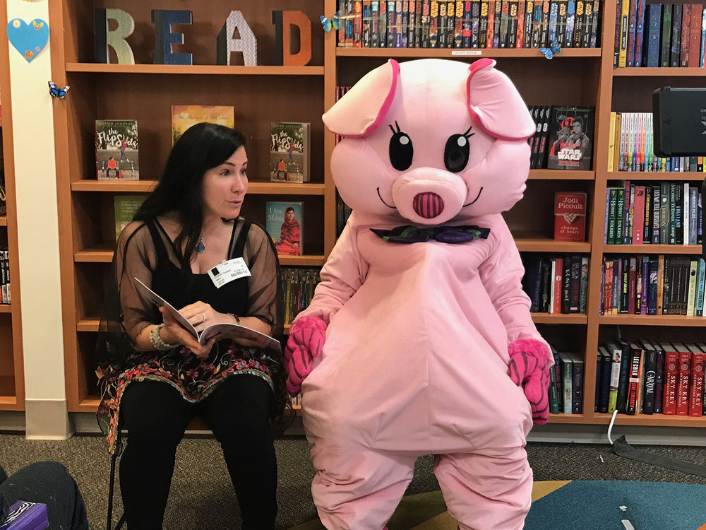 Mara James and the popular Piggie Bear, who is a character she created to empower children, teach them self-love and how to identify and calm their emotions.