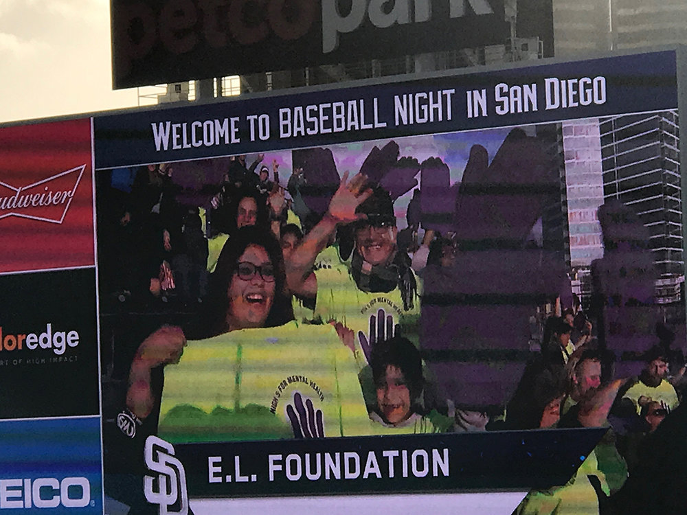 A High Five for Mental Health Celebration at a Padres game at Petco Park in San Diego.