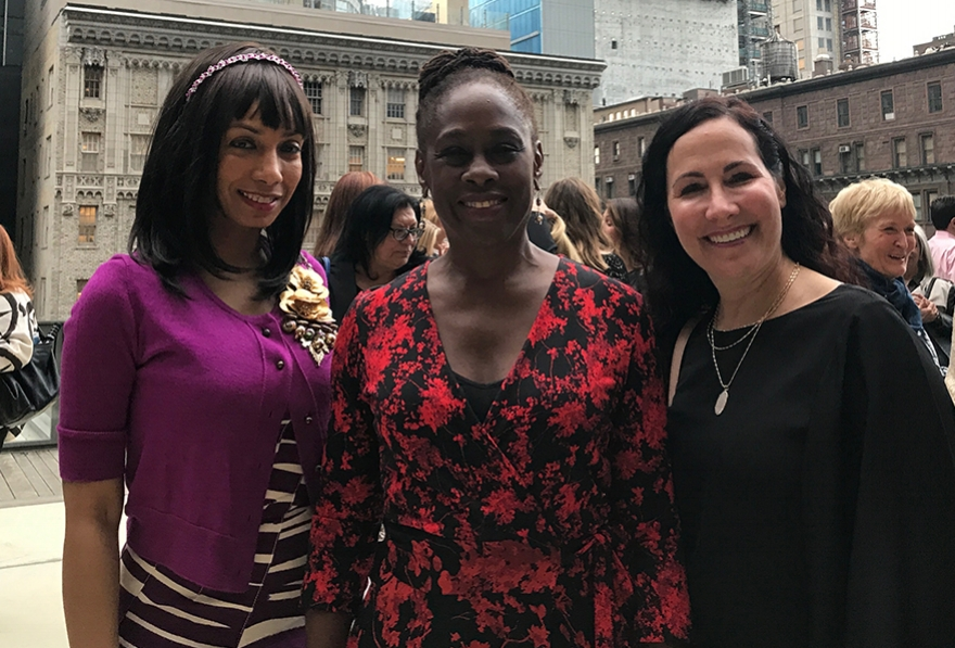 Mara with Chirlane McCray, First Lady of New York City