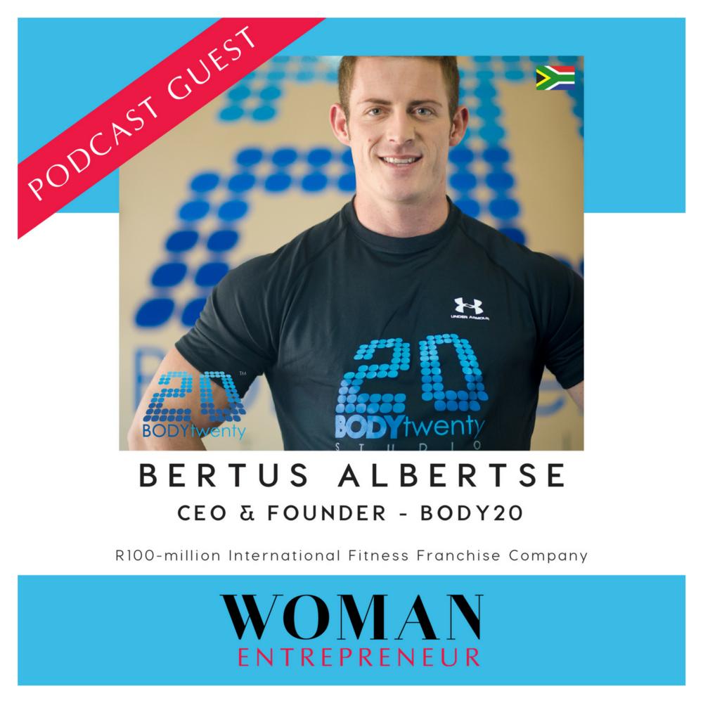 Bertus Alberts from Body20 on Woman Entrepreneur