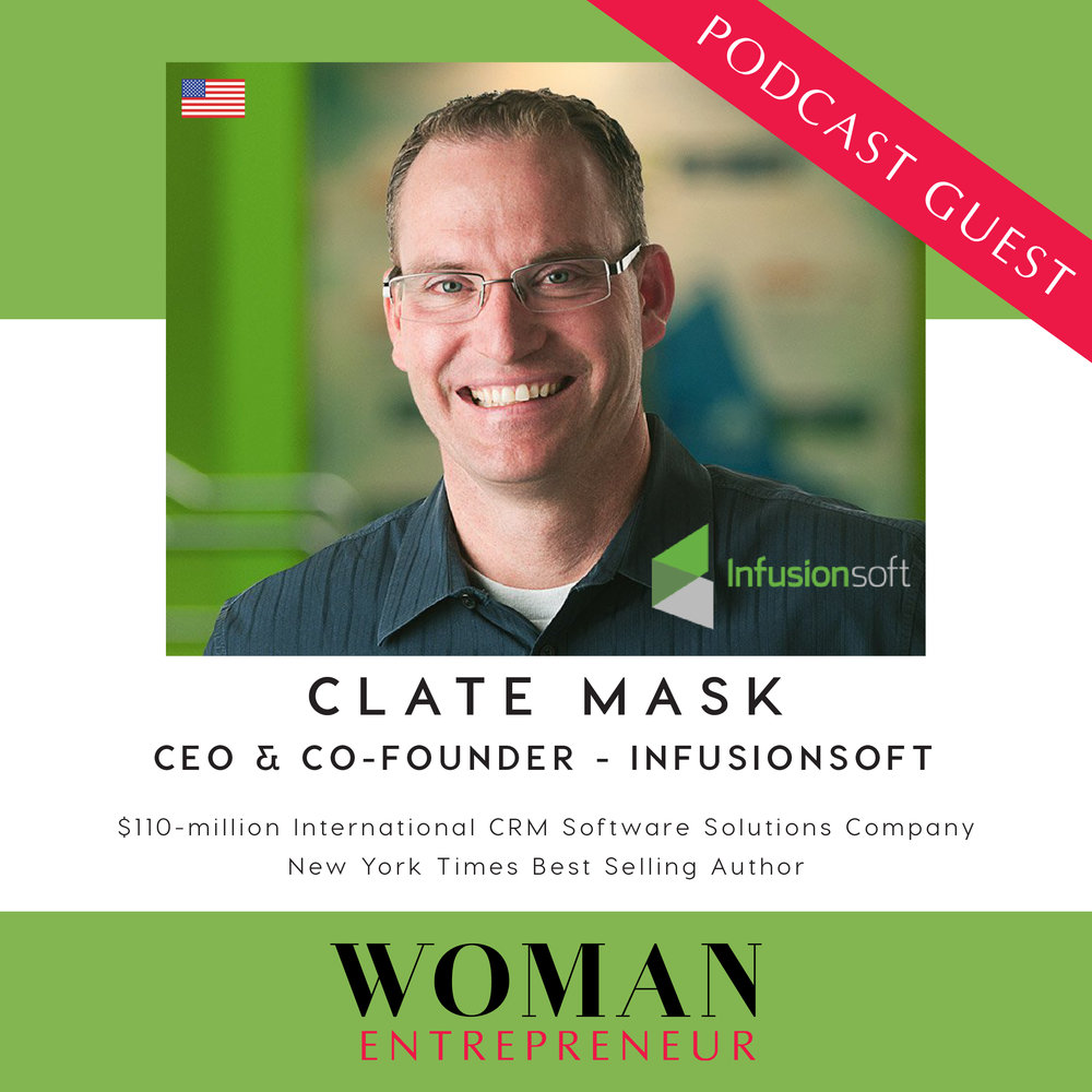 clate mask from infusionsoft on woman entrepreneur podcast