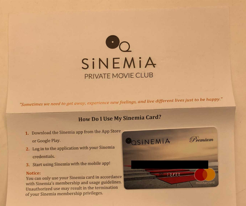 Download the Sinemia app. Once you're all set up, you have the option to either buy your tickets online or pick them up at the movie theatre's box office.