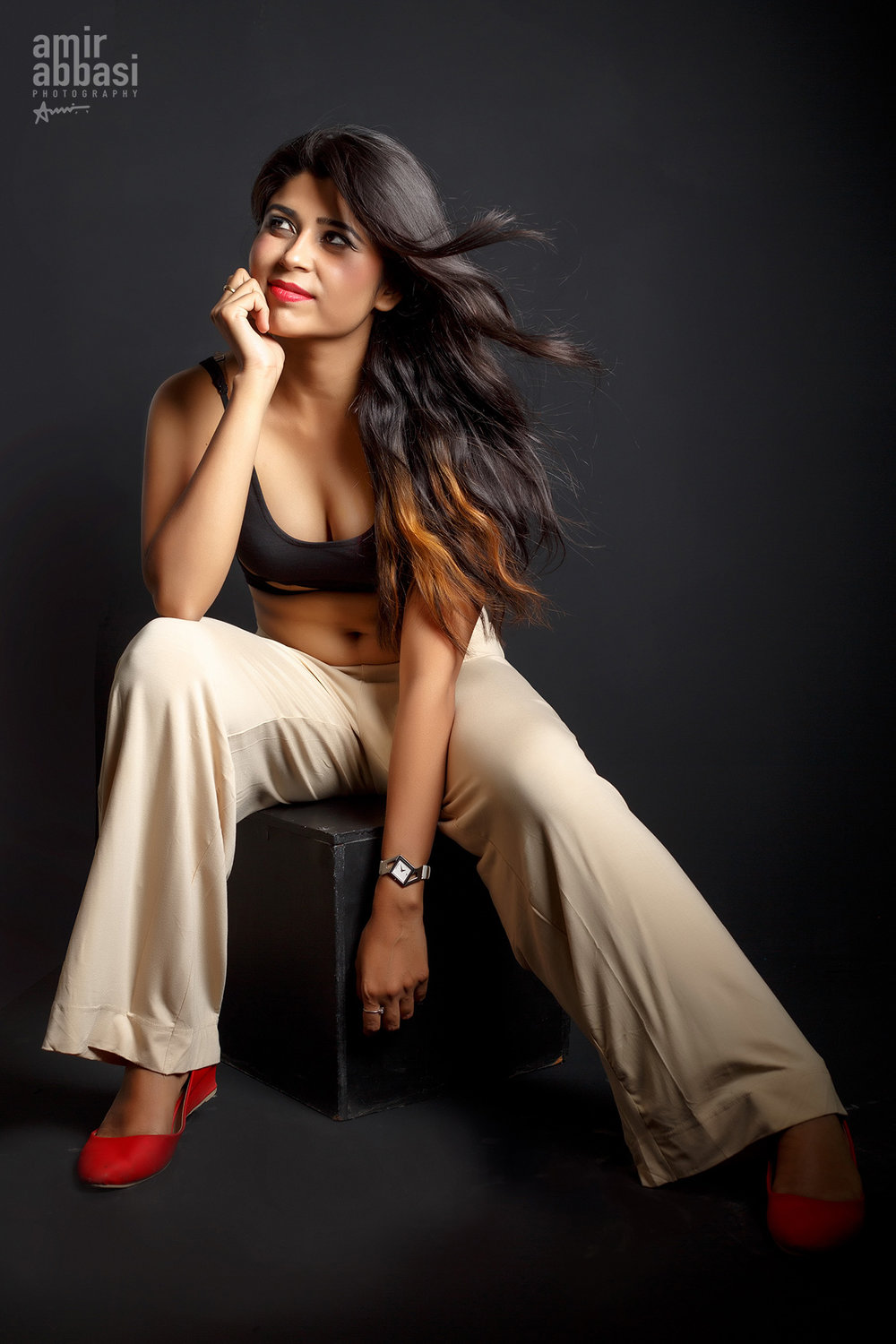 Model Priyanka Shukla's first professional Portfolio, Shot by Fashion Photographer Amir Abbasi
