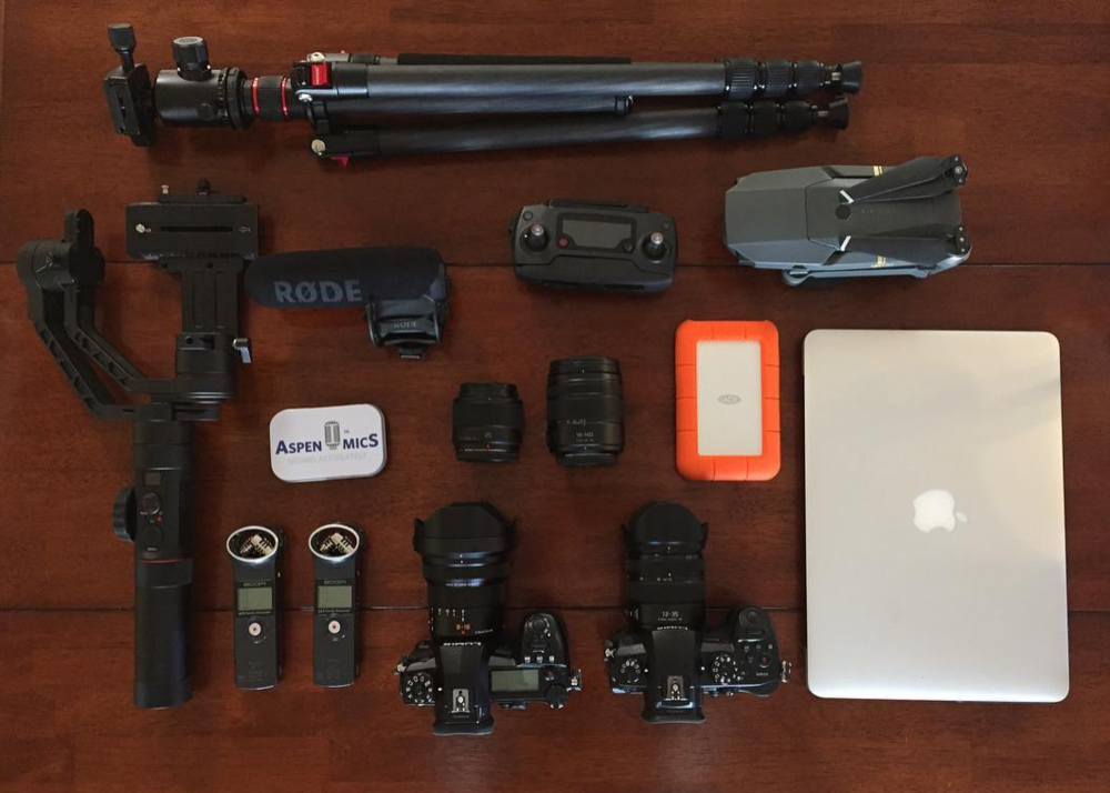 My Gear - The SKILLS and ABILITY to tell a story and create is most important, but the gear you use help guide the end product.