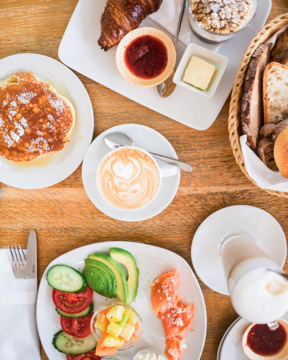 sweet breakfast (top) & salmon breakfast (bottom)