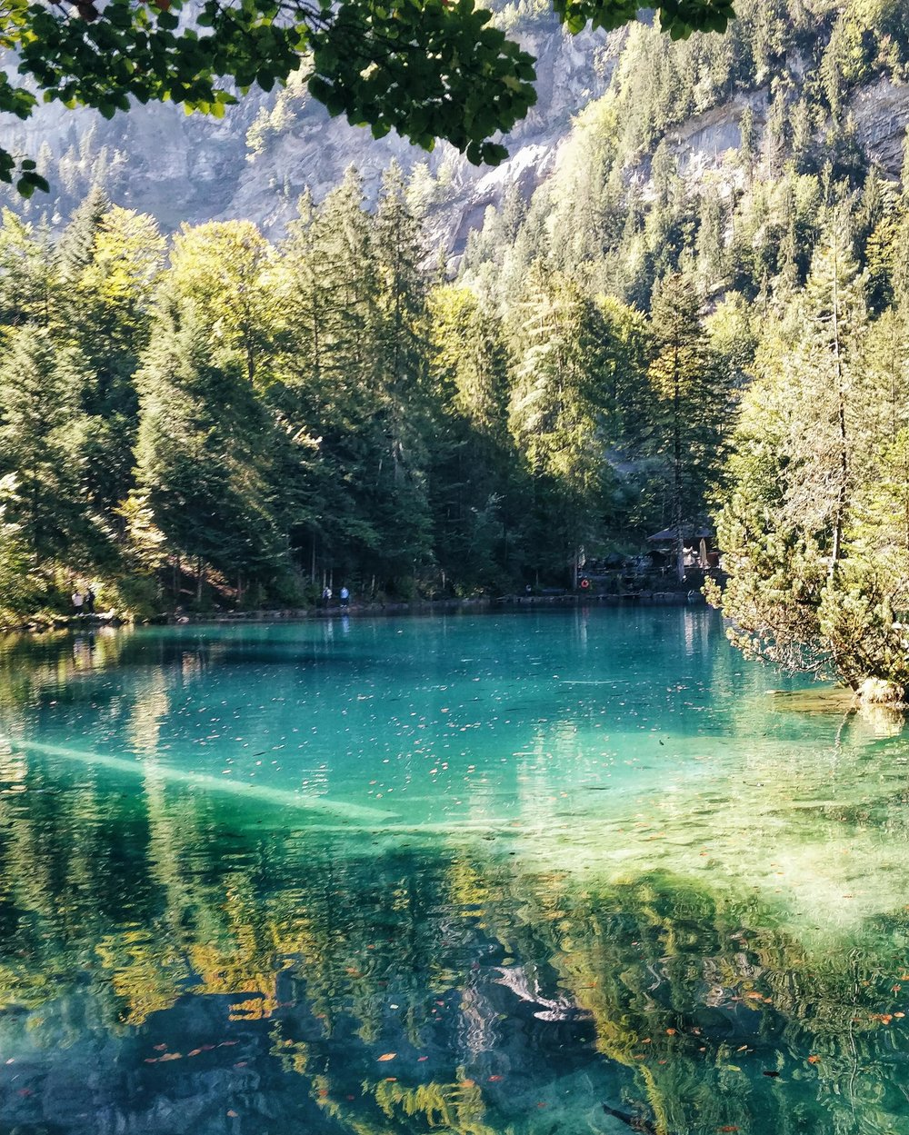 swiss switzerland blue lake blausee interlaken