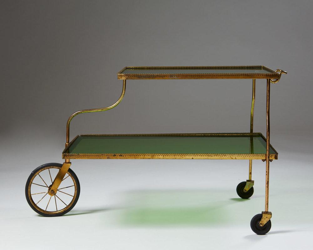 Tea trolley designed by Josef Frank for Svenskt Tenn,Sweden. 1940's
