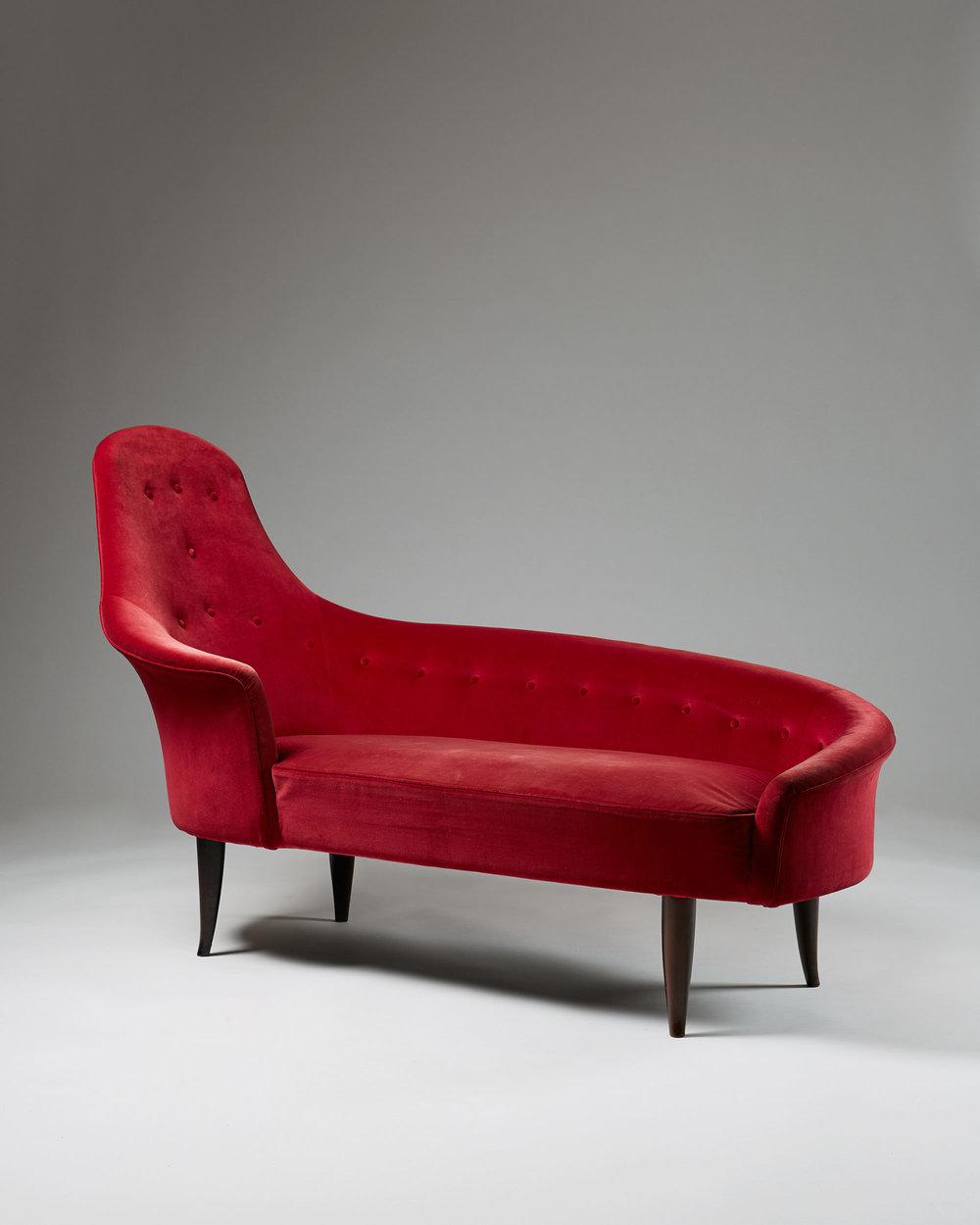 Chaise longue Garden of Eden designed by Kerstin Hörlin Holmquist for NK, Sweden. 1950's.
